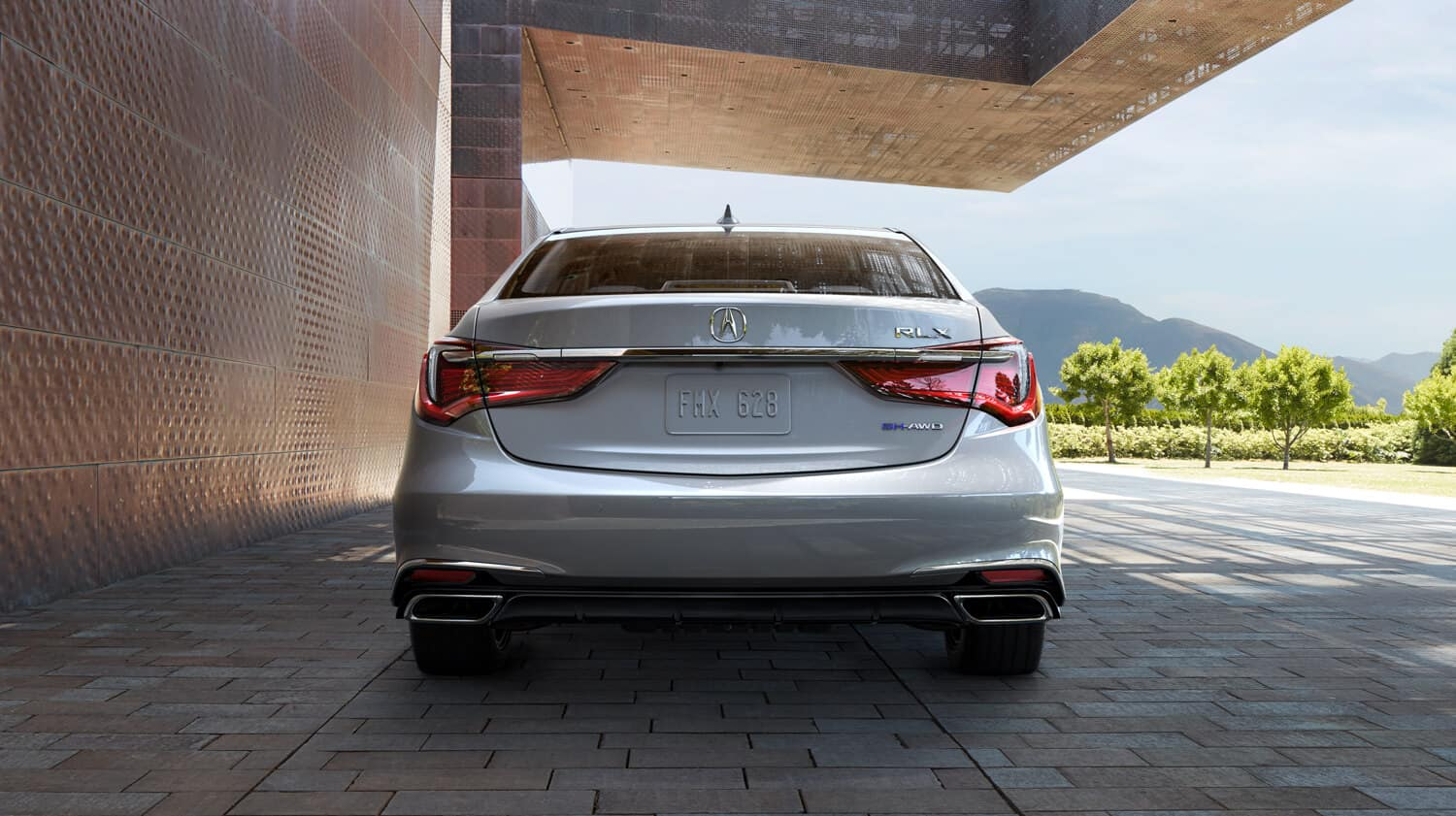 2020 Acura RLX Exterior Rear Angle Dual Exhaust