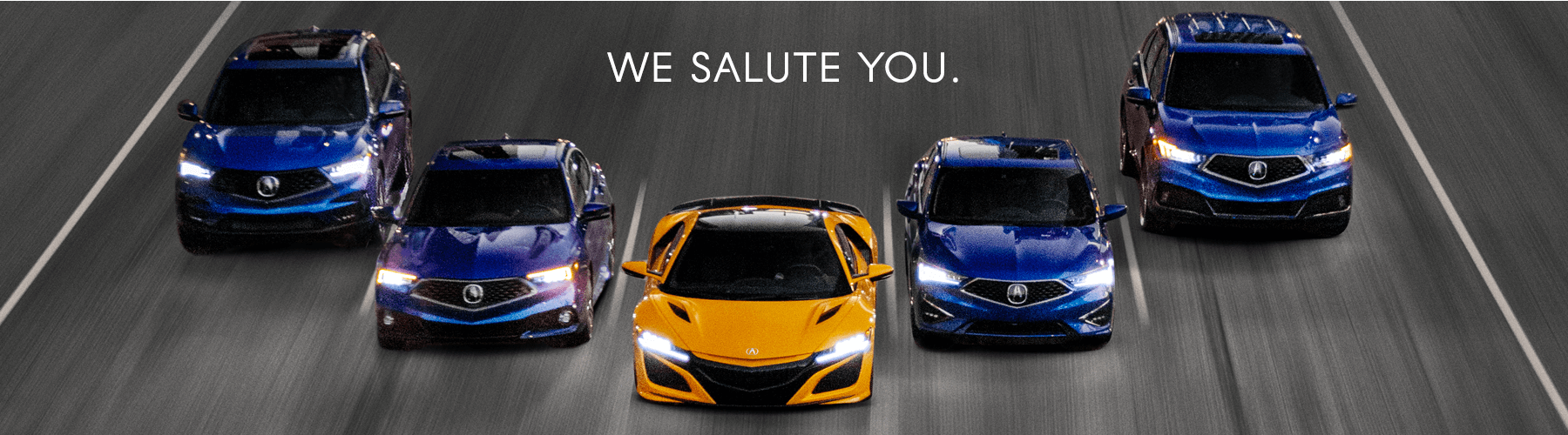 Acura We Salute You Military Banner