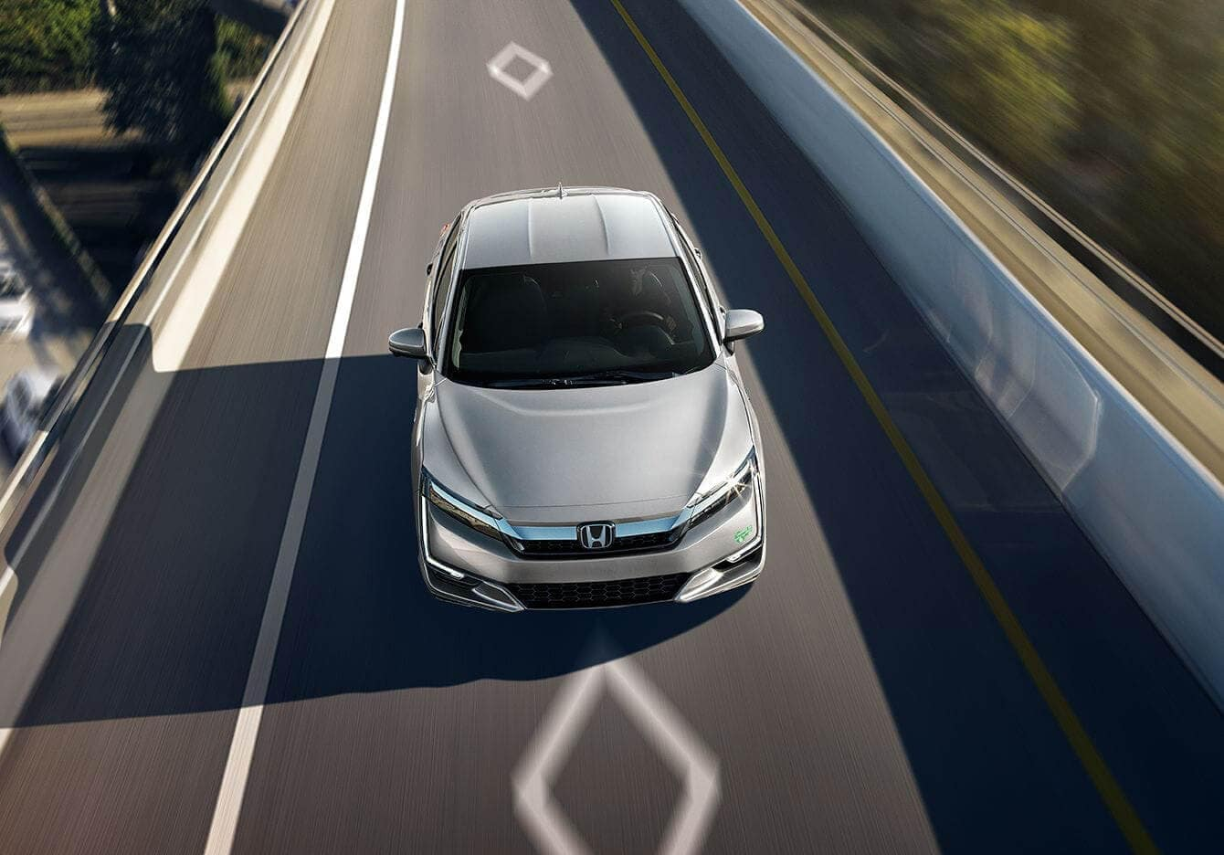 2018 Honda Clarity Plug In Hybrid Front Birds Eye View