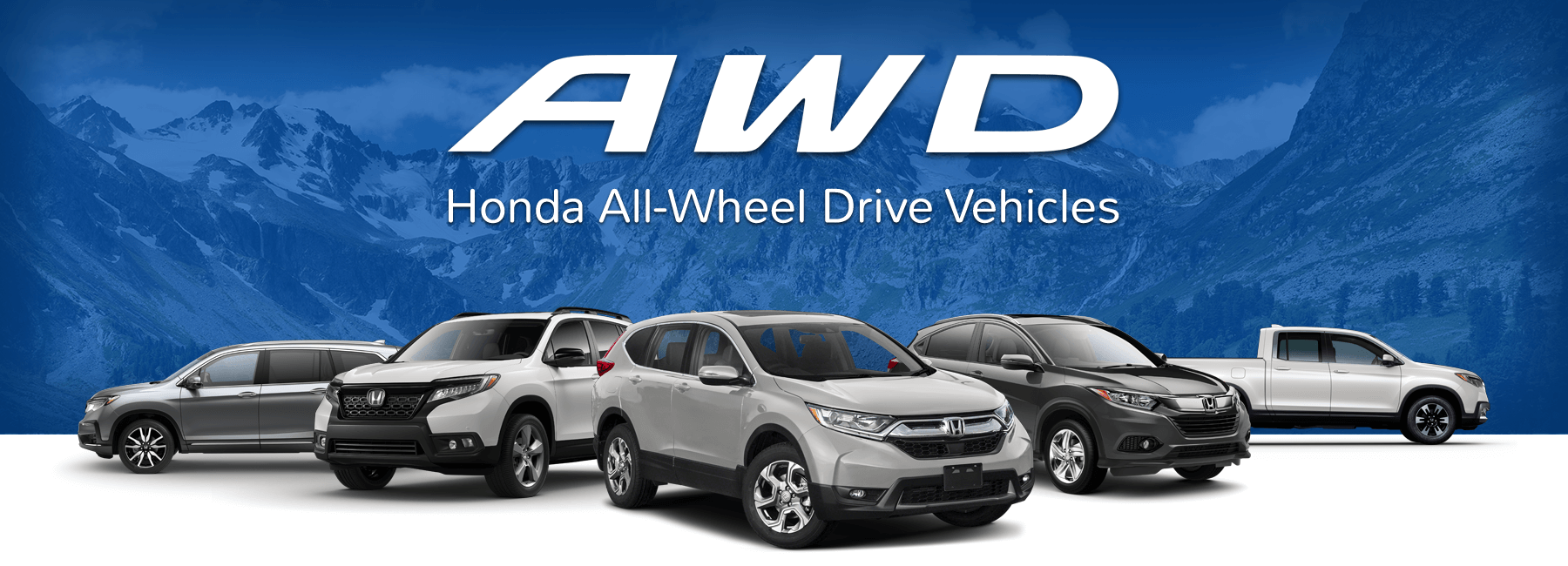 Honda All-Wheel Drive Lineup Slider