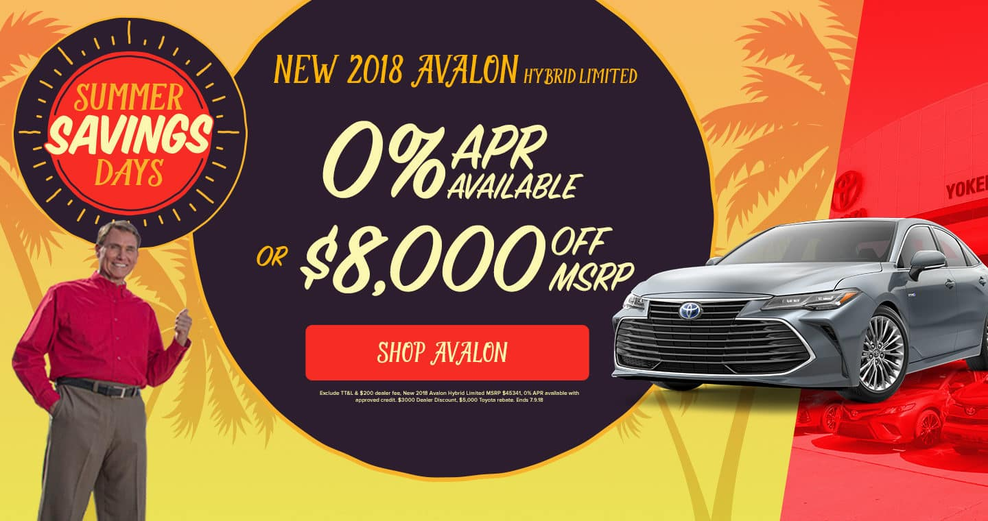 2018 Avalon Sale