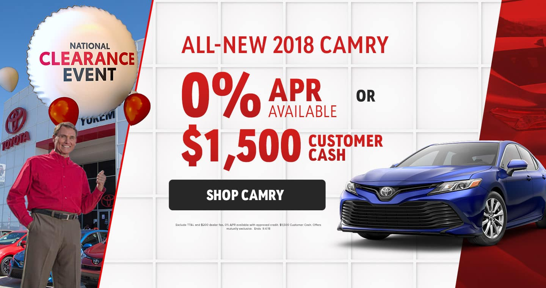 2018 Camry Sale