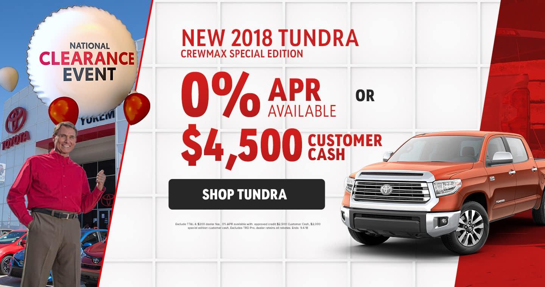 2018 Tundra Sale