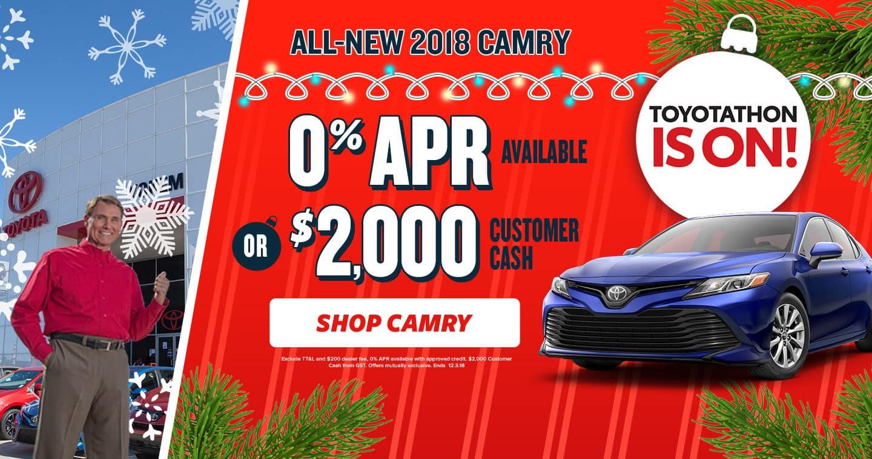 2018 Camry Toyotathon Sale