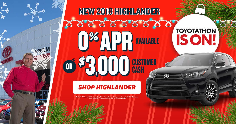 2018 Highlander Toyotathon Sale
