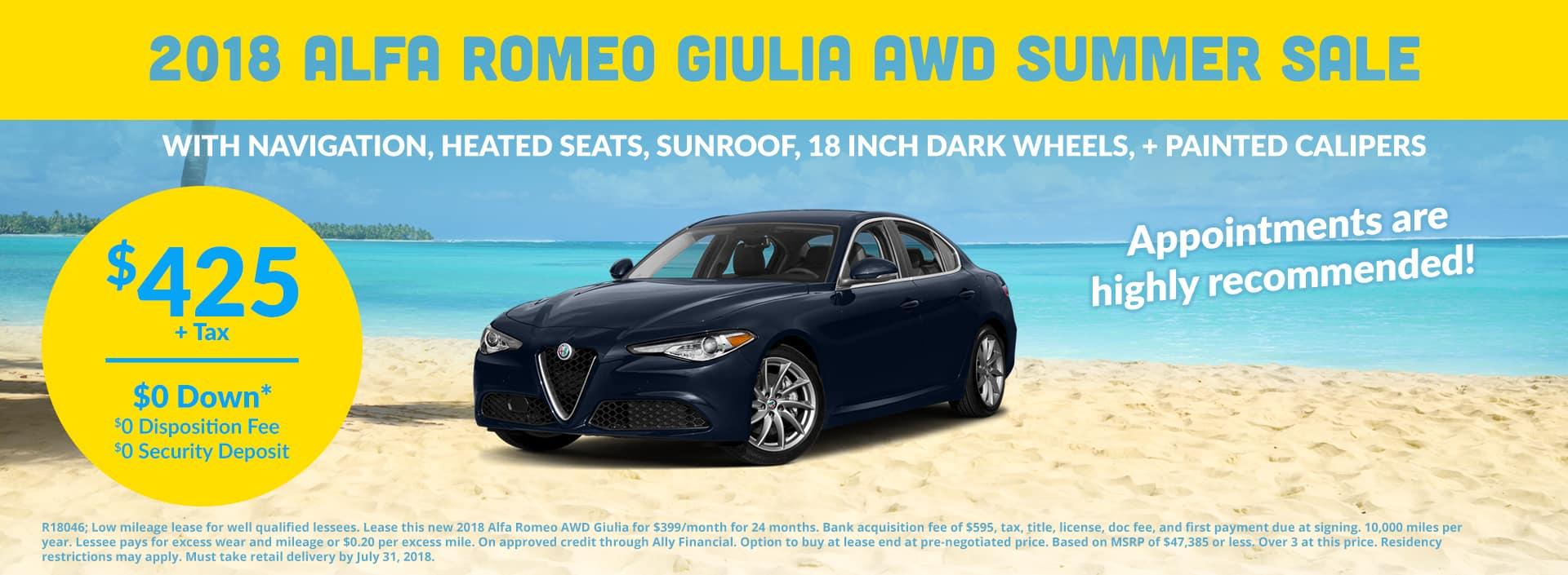 Alfa Romeo Giulia July Offer