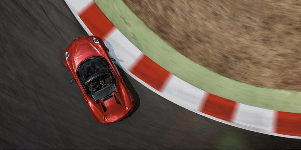 2018 Alfa Romeo 4C Birds Eye View