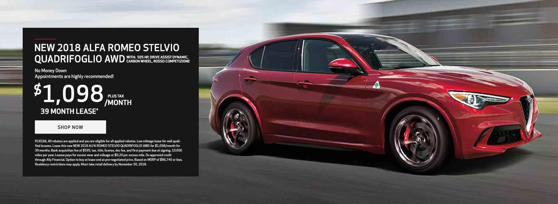 2018 Stelvio Quadrifoglio Offer in Schaumburg