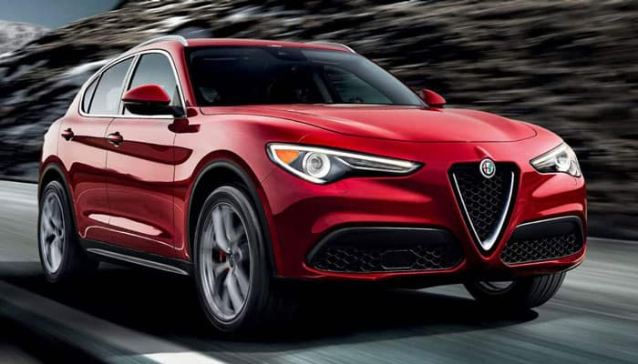 2019 Alfa Romeo Stelvio Driving on Road