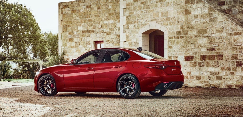 2019 Alfa Romeo Giulia in red