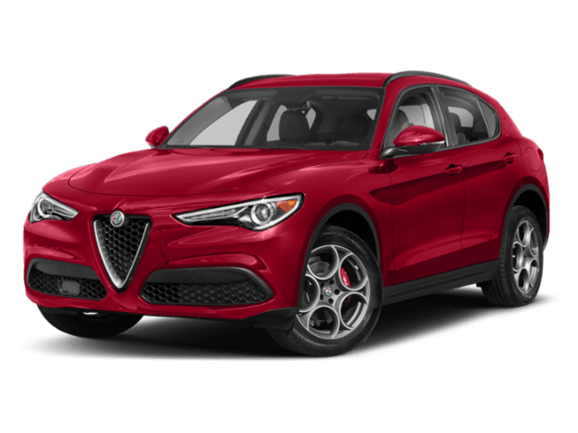 2019 Alfa Romeo Stelvio in red