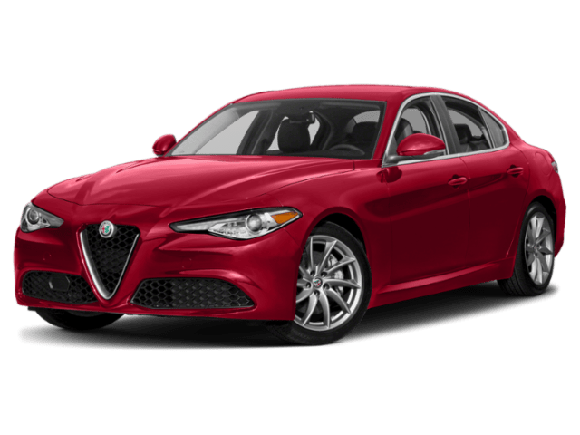 2019 Alfa Romeo Giulia in red
