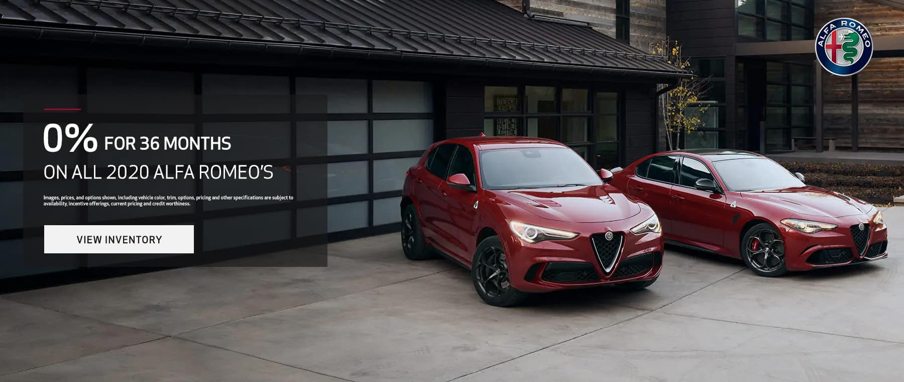 0% for 36 months on all 2020 alfa Romeo's